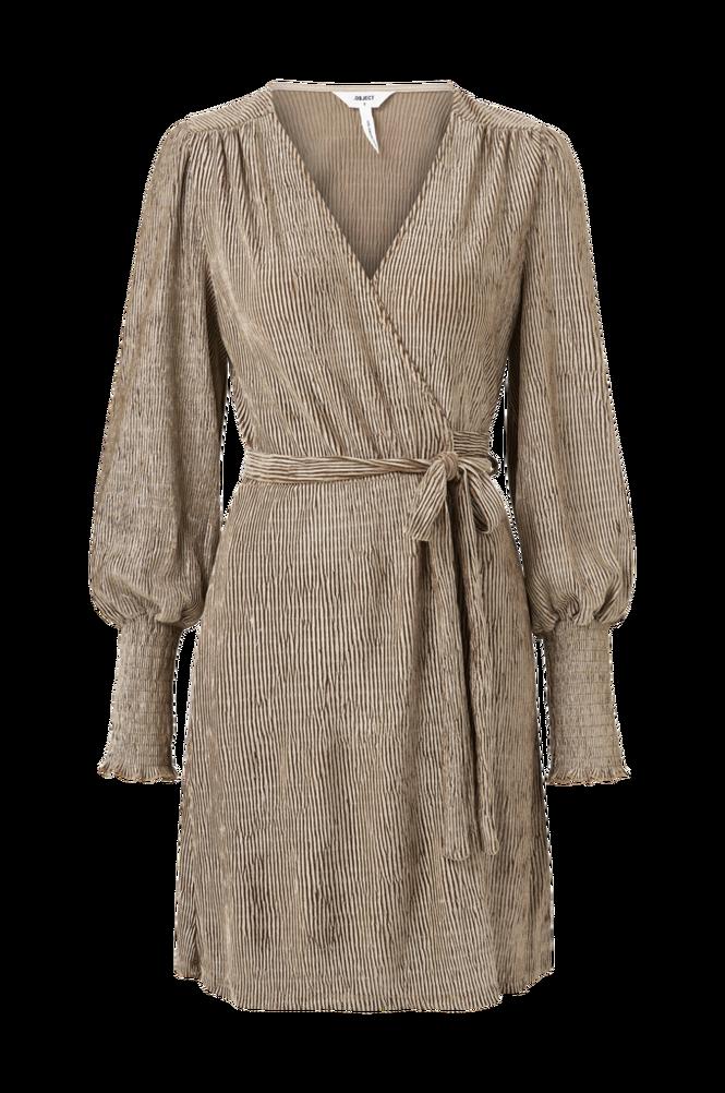 Object Slå om-kjole objViolet L/S Wrap Dress 112