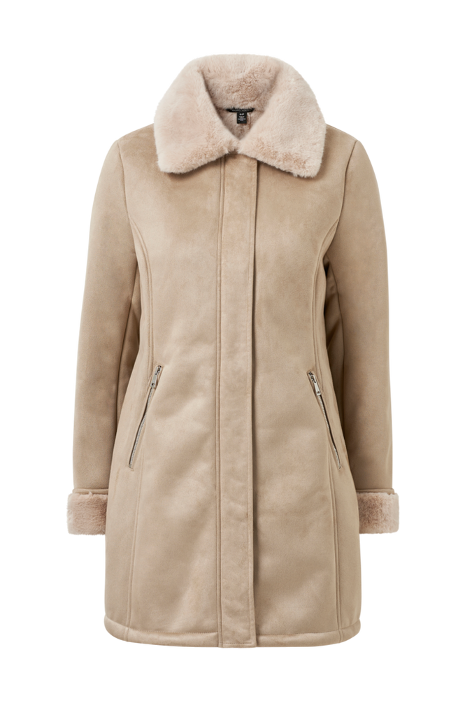 Lauren Ralph Lauren Frakke Faux Sheared Lamb Coat