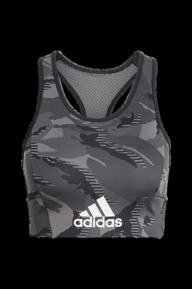 adidas Sport Performance Sports-bh Aeroready Designed 2 Move Camouflage-print Bra Top