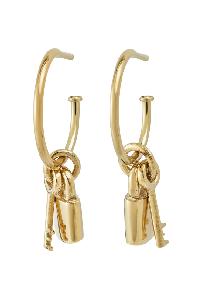 Edblad Øreringe Secure Earrings Gold