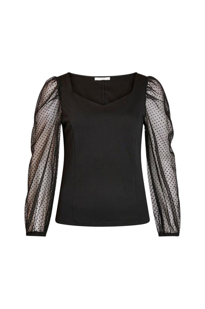 Vila Top viSpensa Square Neck L/S Top