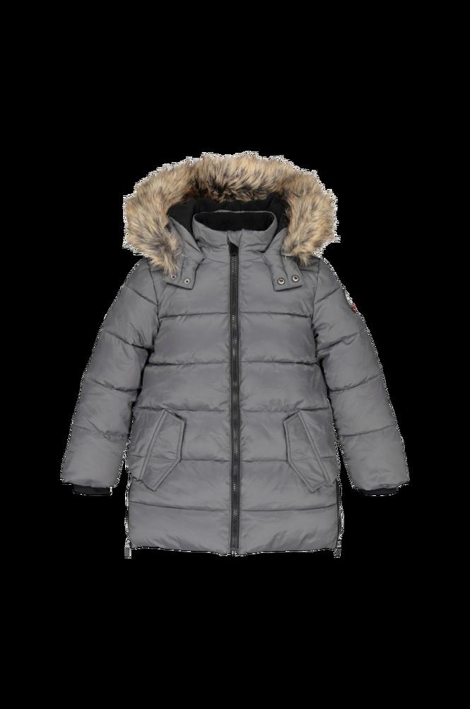 La Redoute Varm, quiltet jakke med hætte i lang model
