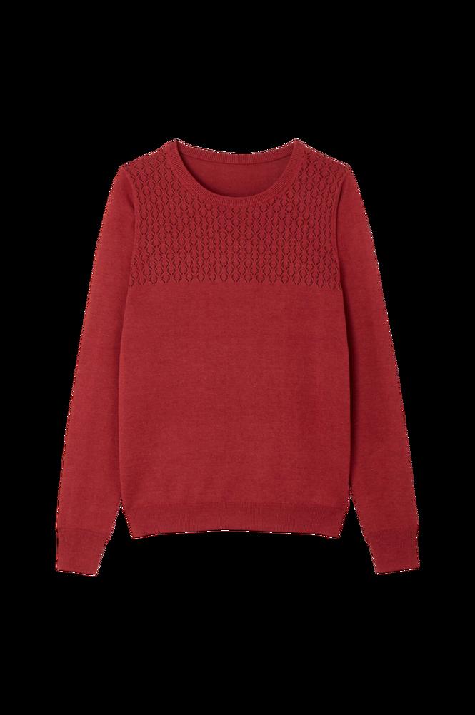La Redoute Finstrikket trøje med rund halsudskæring og hulmønster
