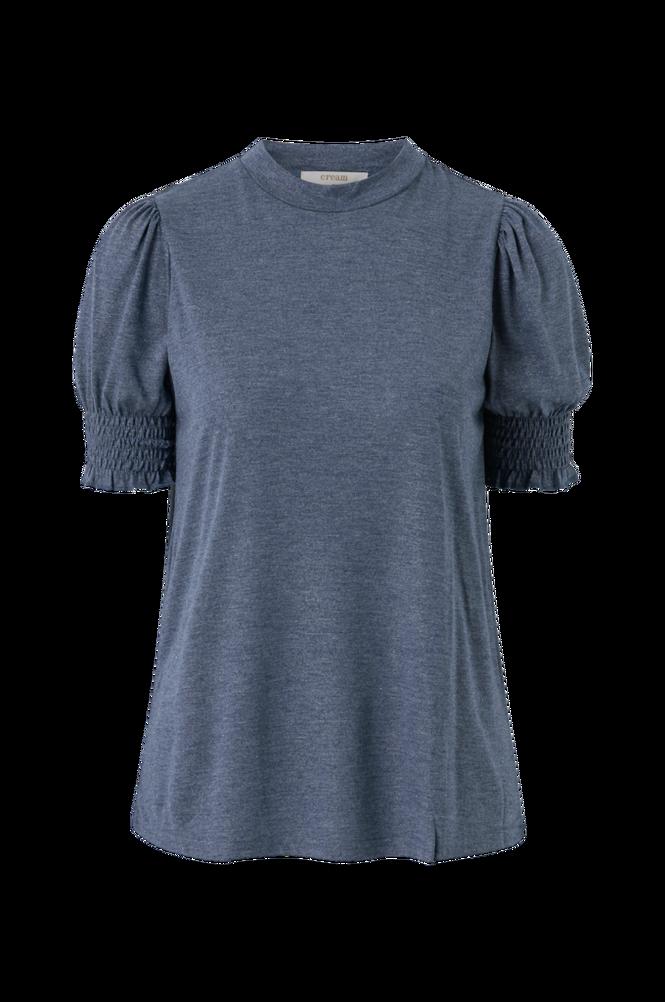 Cream Top crIvana Short Sleeve Jersey Blouse