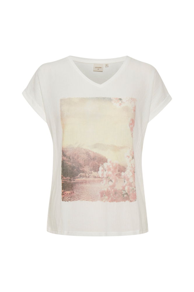 Cream Top crFemella T-shirt