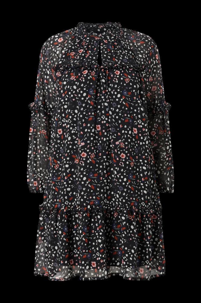 Vero Moda Curve Kjole vmMille L/S Frill Short Dress Exp Curve