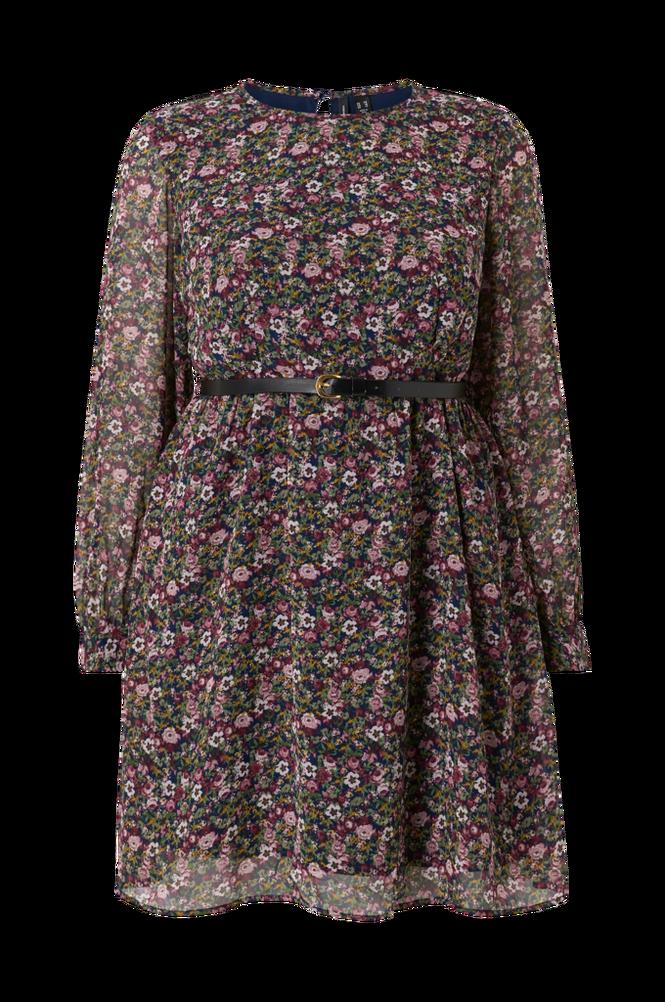 Vero Moda Curve Kjole vmPrinty L/S Belt Short Dress Exp Curve