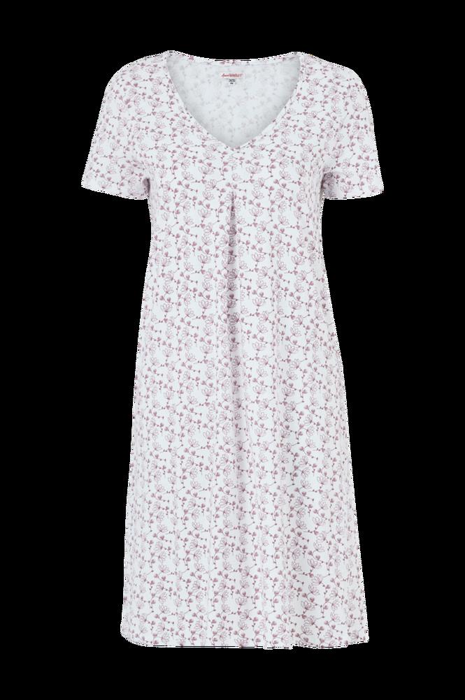 La Redoute Mønstret jerseynatkjole med blondedetalje