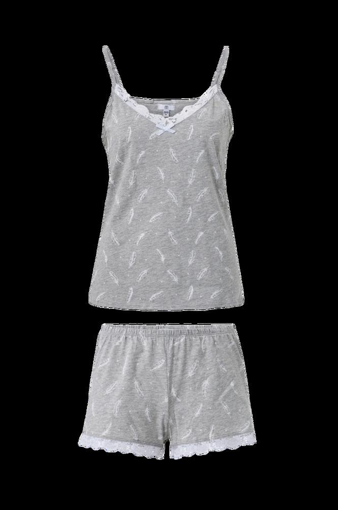 La Redoute Pyjamas med fjermønster og blondedetaljer