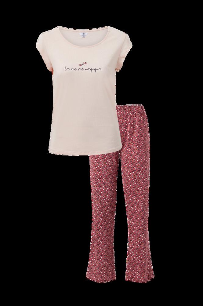 La Redoute Pyjamas med top med tekstmotiv og mønstret buks