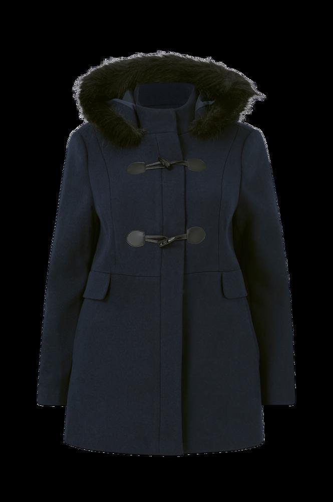 La Redoute Halvlang duffelcoat med hætte