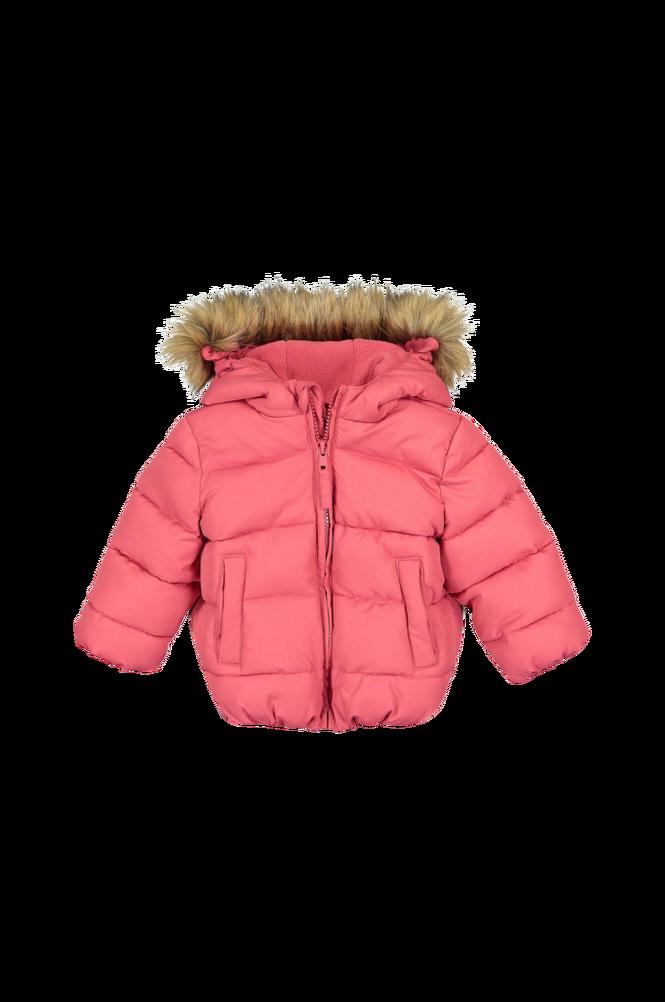 La Redoute Varm, quiltet jakke med hætte og print