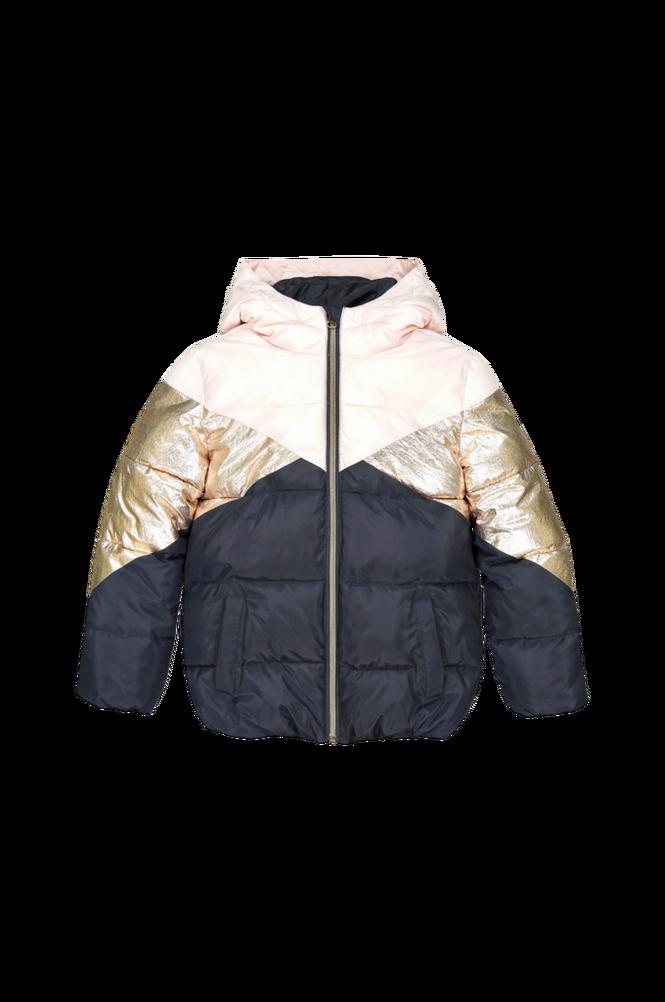 La Redoute Kort, quiltet jakke med hætte i tre farver