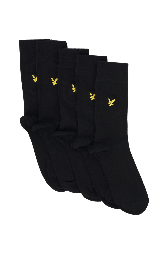 Lyle & Scott Strømper Core Socks Plain 5-pak