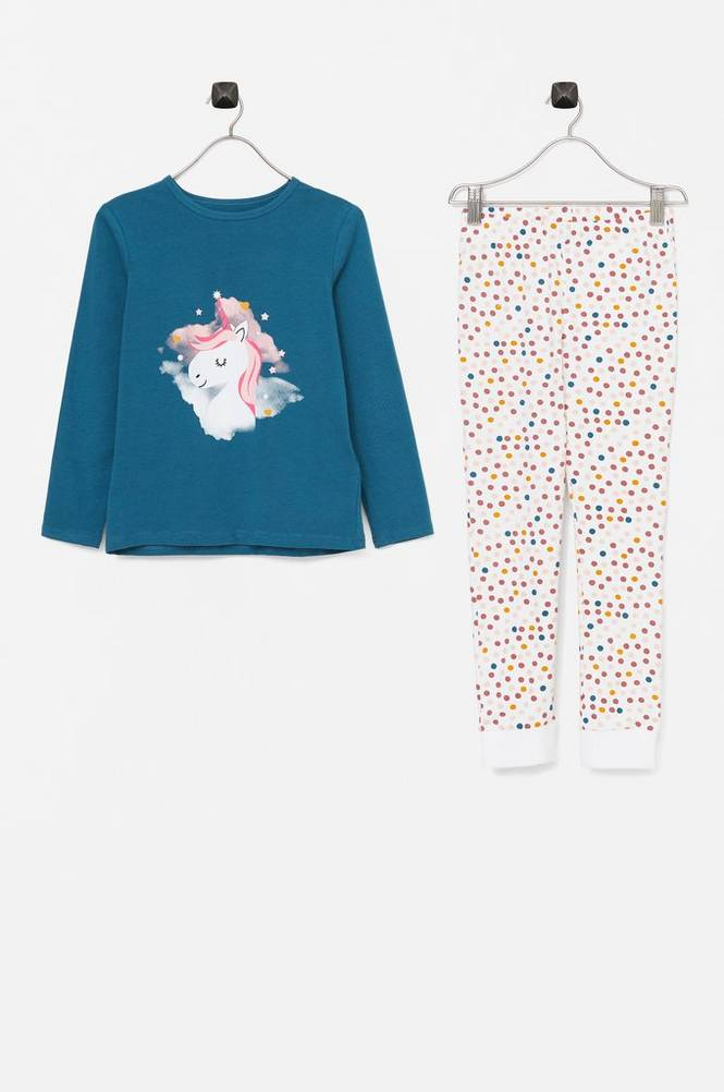 Name it Pyjamassæt nkfNightset Real Teal Unicorn
