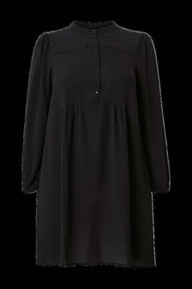 Vero Moda Curve Kjole vmSaga LS Pleat Short Dress Wvn Curve