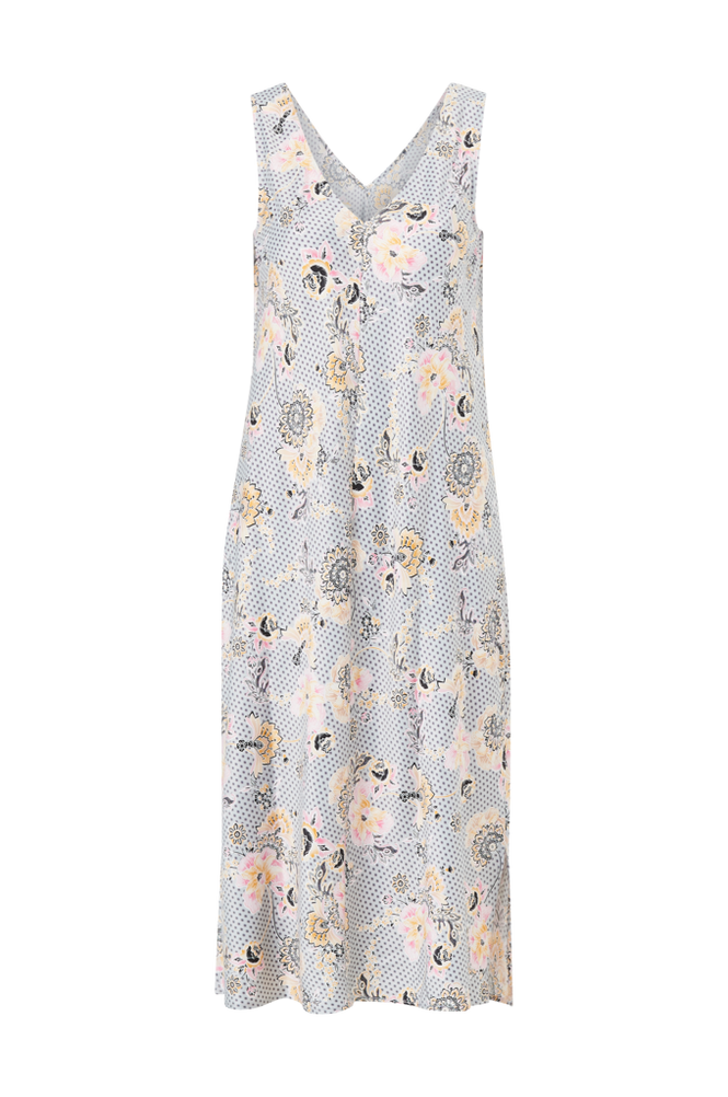La Redoute Blomstret, ærmeløs natkjole