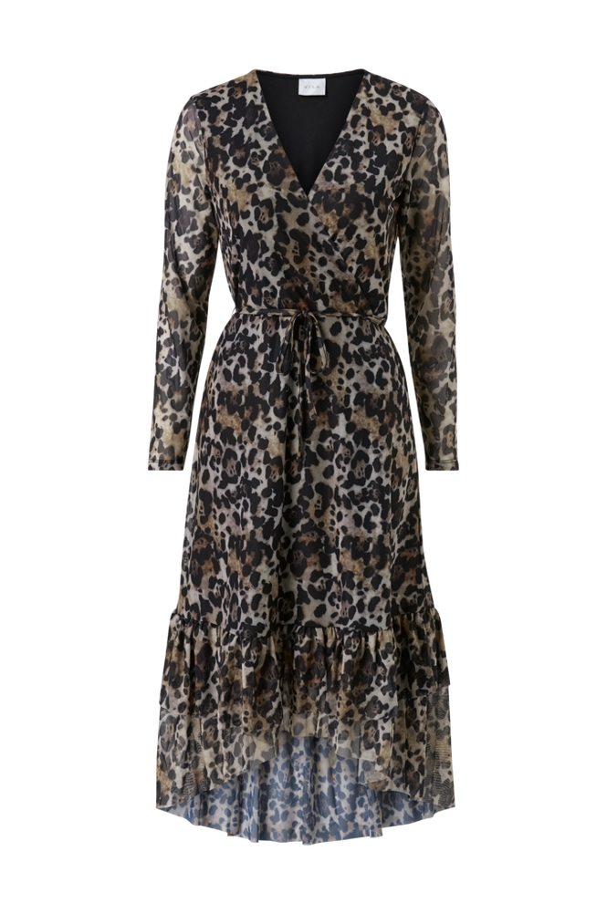 Vila Kjole viMemis L/S Wrap Dress