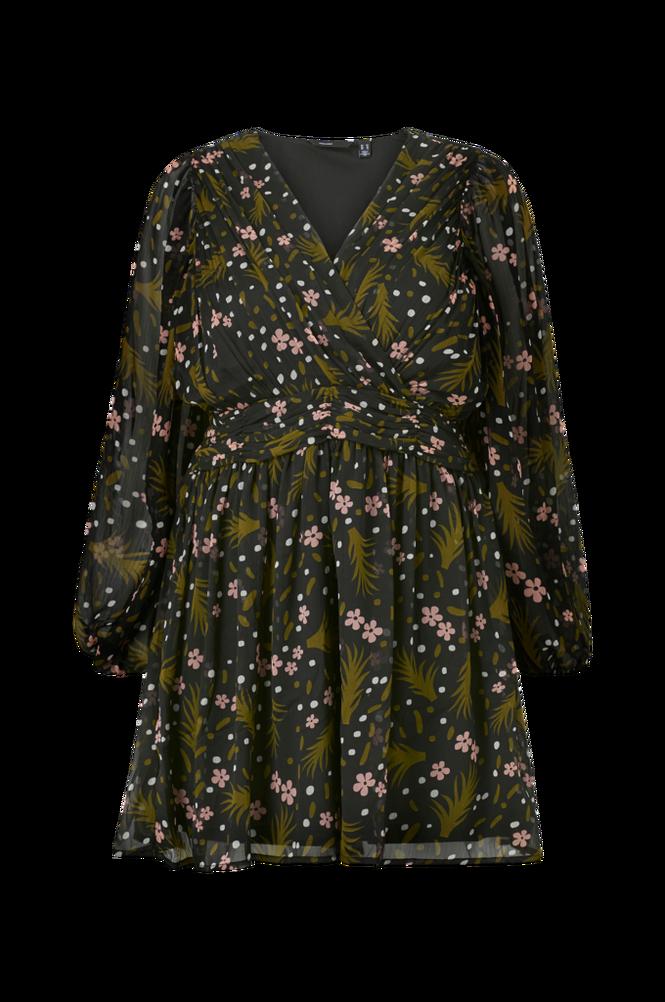 Vero Moda Curve Kjole vmHadde LS Short Gathering Dress