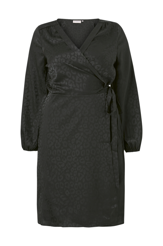 Only Carmakoma Slå om-kjole carDamina LS Wrap Knee Dress