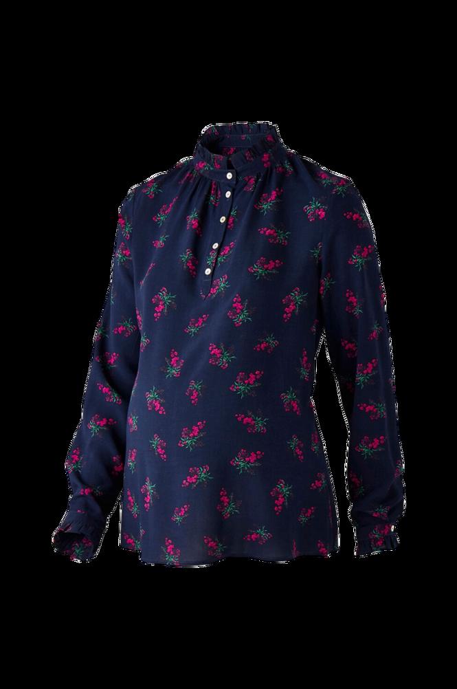 La Redoute Blomstret ventebluse med standkrave