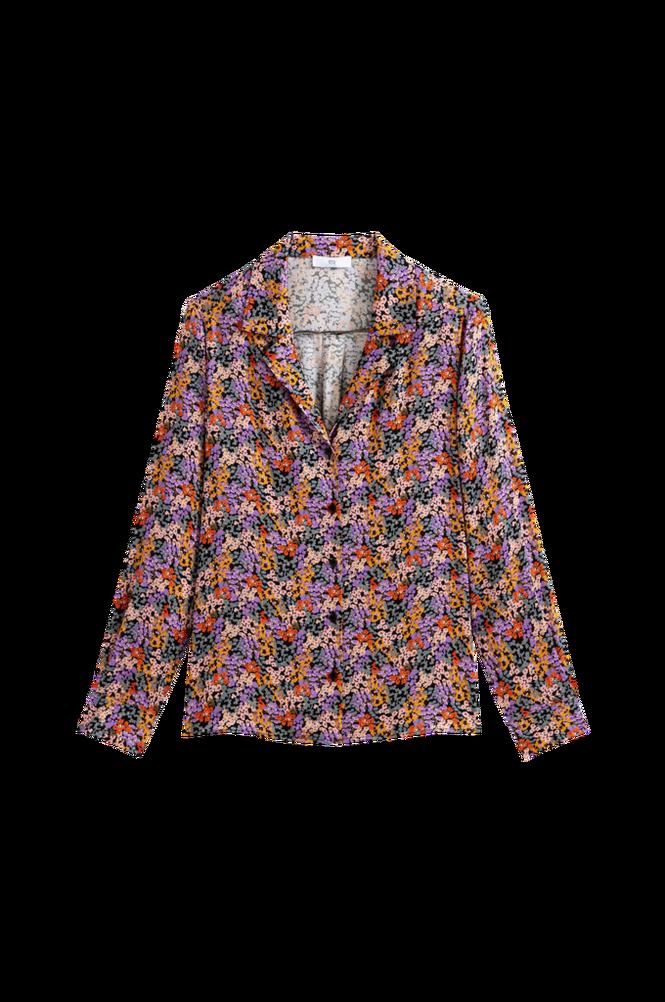 La Redoute Blomstret skjorte med krave med revers