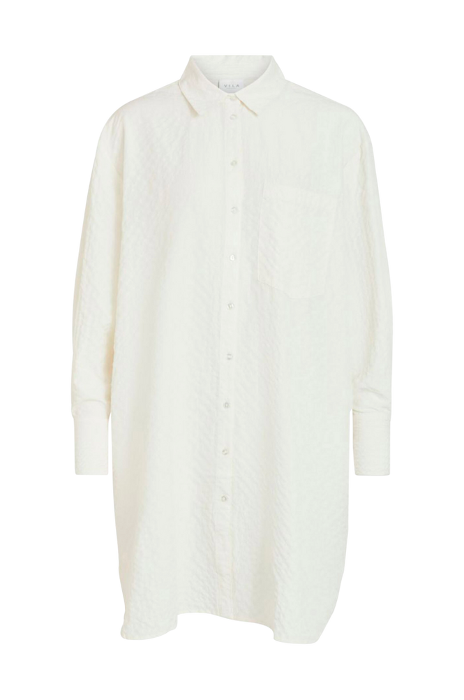 Vila Lang skjorte viFreda L/S Oversize Shirt