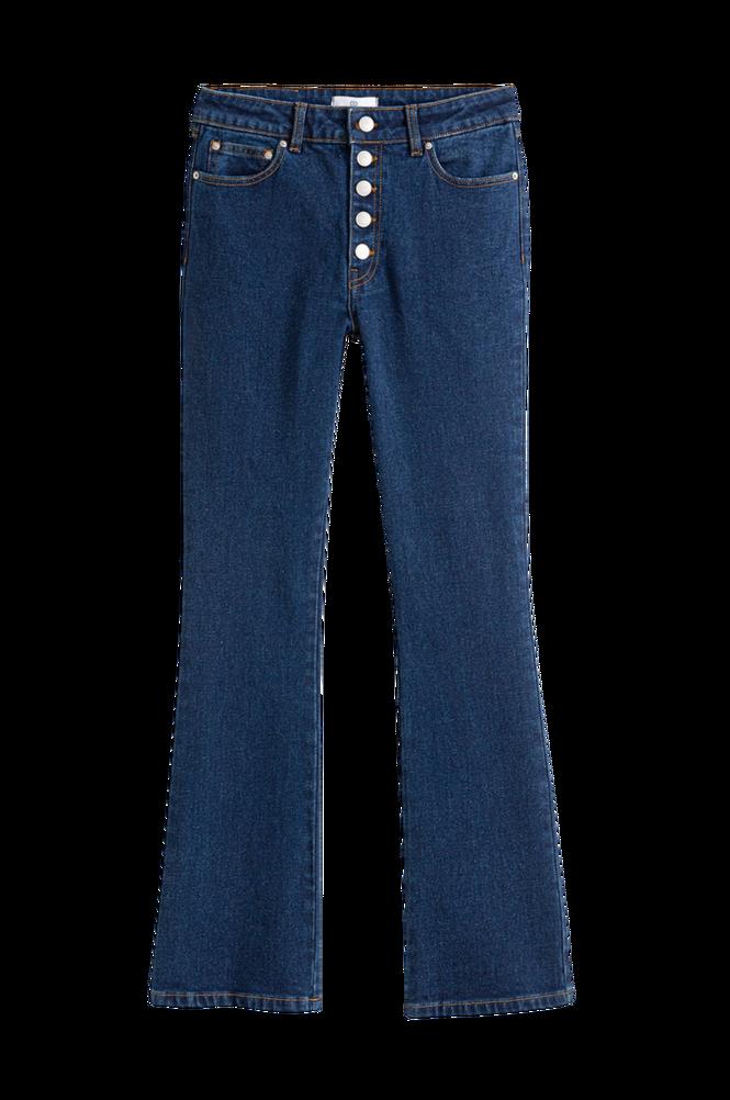 La Redoute Korte bootcut jeans med synlig knaplukning