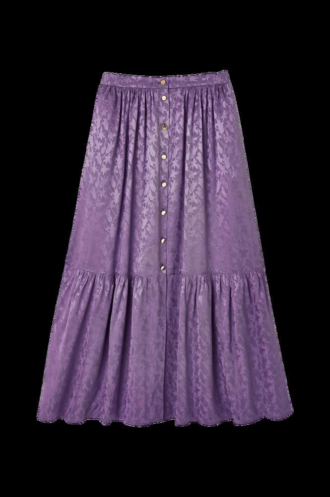 La Redoute Jacquardmønstret, lang nederdel med knaplukning