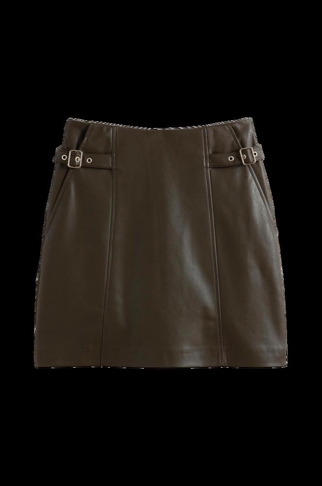 La Redoute Kort, lige nederdel i imiteret skind