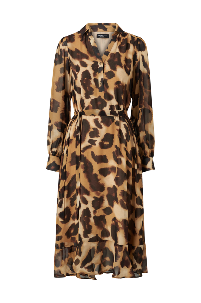 Selected Femme Kjole slfGanza LS Long Midi Dress