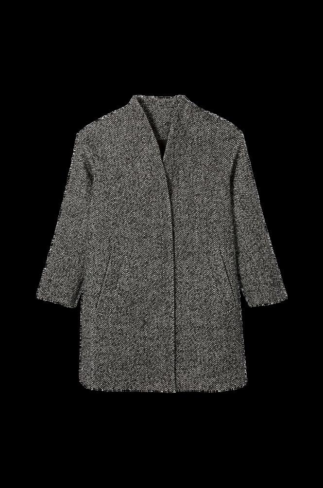 La Redoute Sildebensmønstret, halvlang frakke uden krave