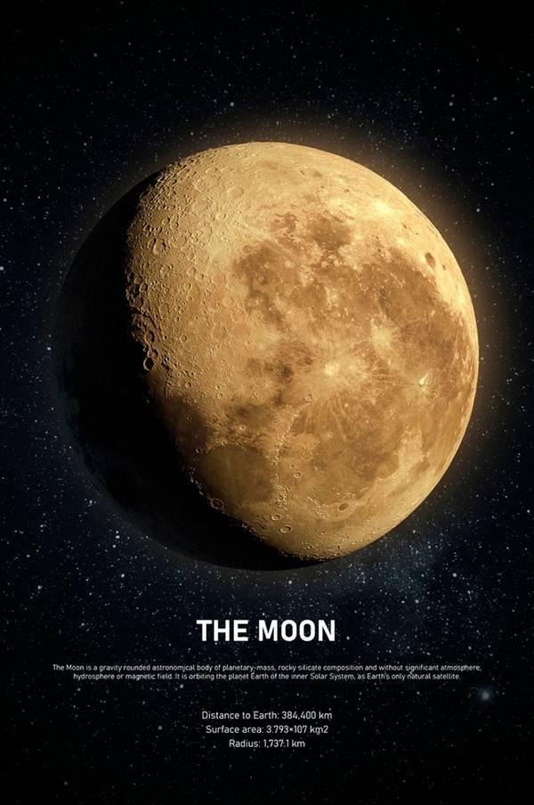 Bilde av Bilde The moon - 30151