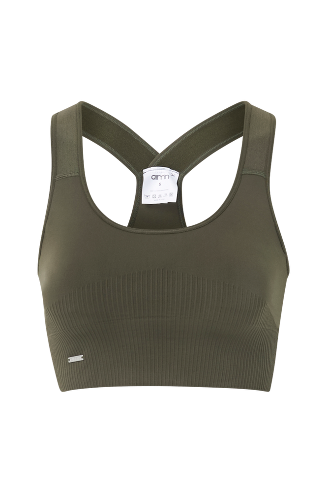 Aim'n Sports-bh Khaki High Support Ribbed Bra