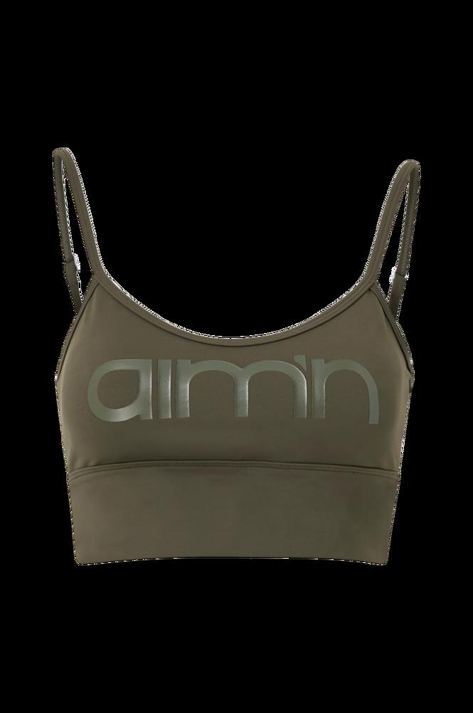 Aim'n Sports-bh Khaki Logo Strap Bra