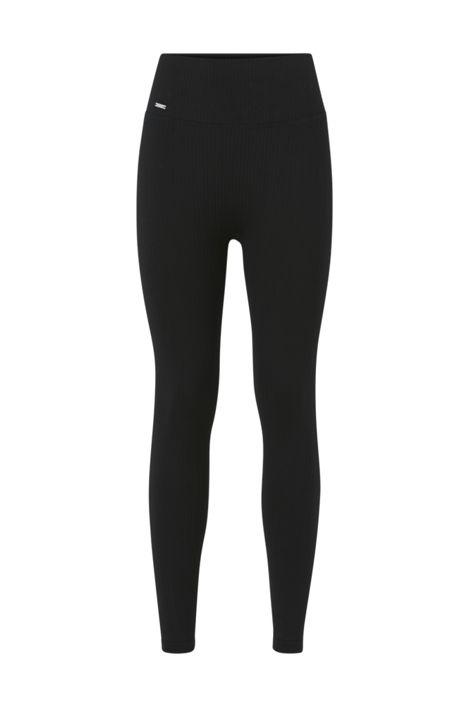 Aim'n Black Ribbed Seamless Tights