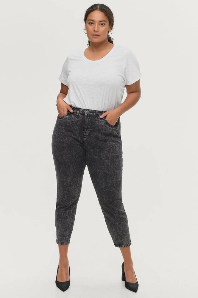 Zizzi Jeans jTana Crop Mom Jeans Boo