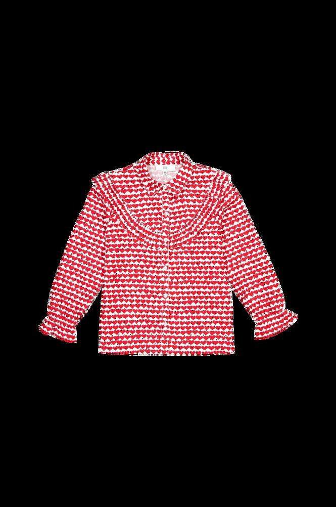 La Redoute Hjertemønstret bluse med langt ærme