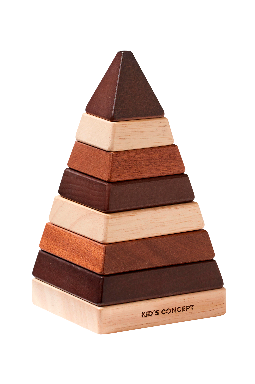 Kids Concept - Plocktorn pyramid natur NEO
