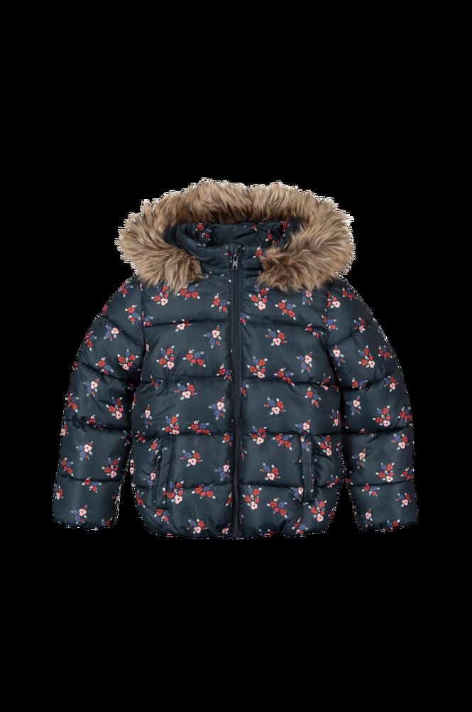 La Redoute Mønstret, quiltet jakke med hætte