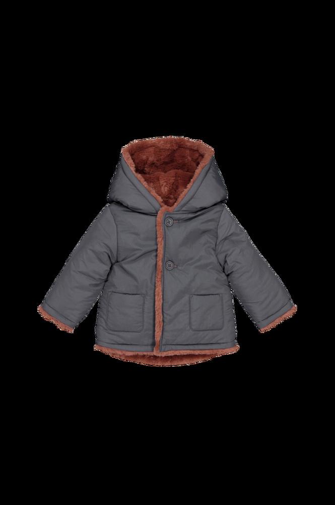 La Redoute Varm, vendbar jakke med hætte
