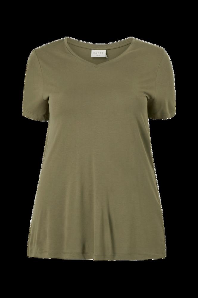 KAFFE Curve Top kcAneli V-neck T-shirt