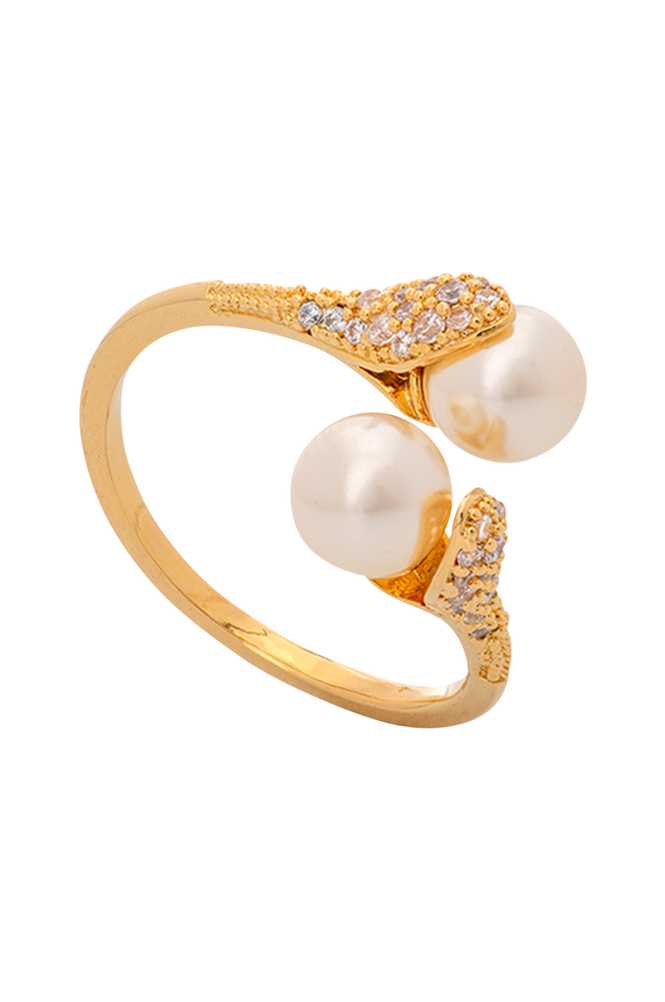Lily and Rose Ring Jackie Pearl Gold
