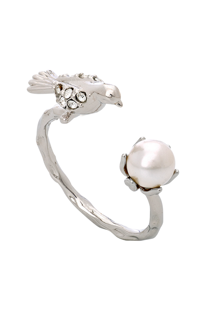 Lily and Rose Ring Eden Peace Silver