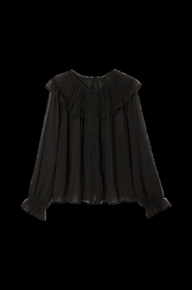 La Redoute Transparent bluse med rund flæsekrave