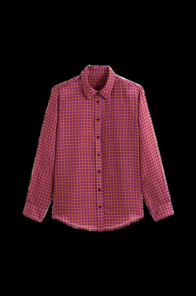 La Redoute Småmønstret skjorte med langt ærme