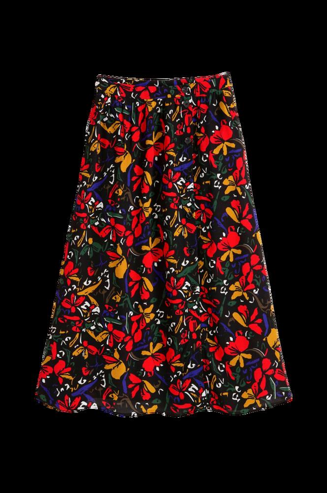 La Redoute A-formet, blomstret midinederdel