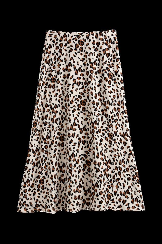 La Redoute Lang, A-formet nederdel med leopardmønster
