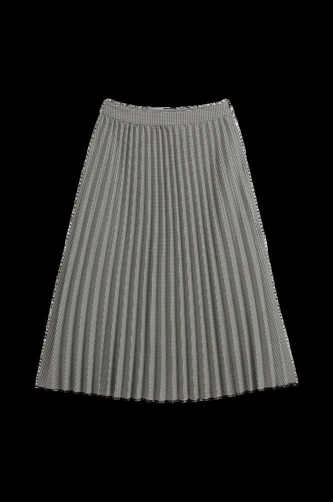 La Redoute Lang, plisseret nederdel med hanefjedsmønster