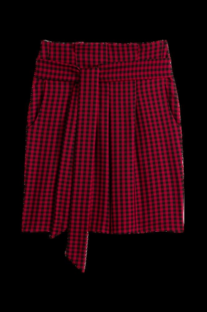 La Redoute Kort, lige nederdel med småternet mønster